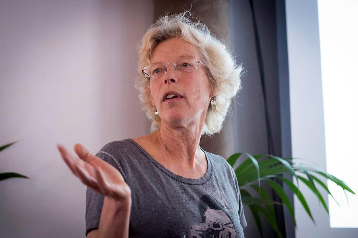 Spreker Froukje-Anne Karsten op de Duurzame Woonbotenroute