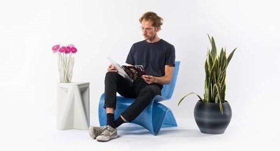 Designobjecten van vanPlastic - stoel, tafel en bloempot
