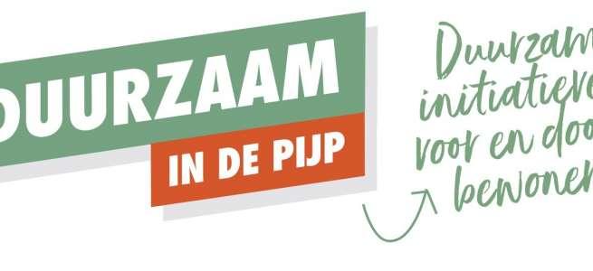 Logo Duurzaam in de Pijp. Slogan: Duurzame initiatieven voor en door bewoners!