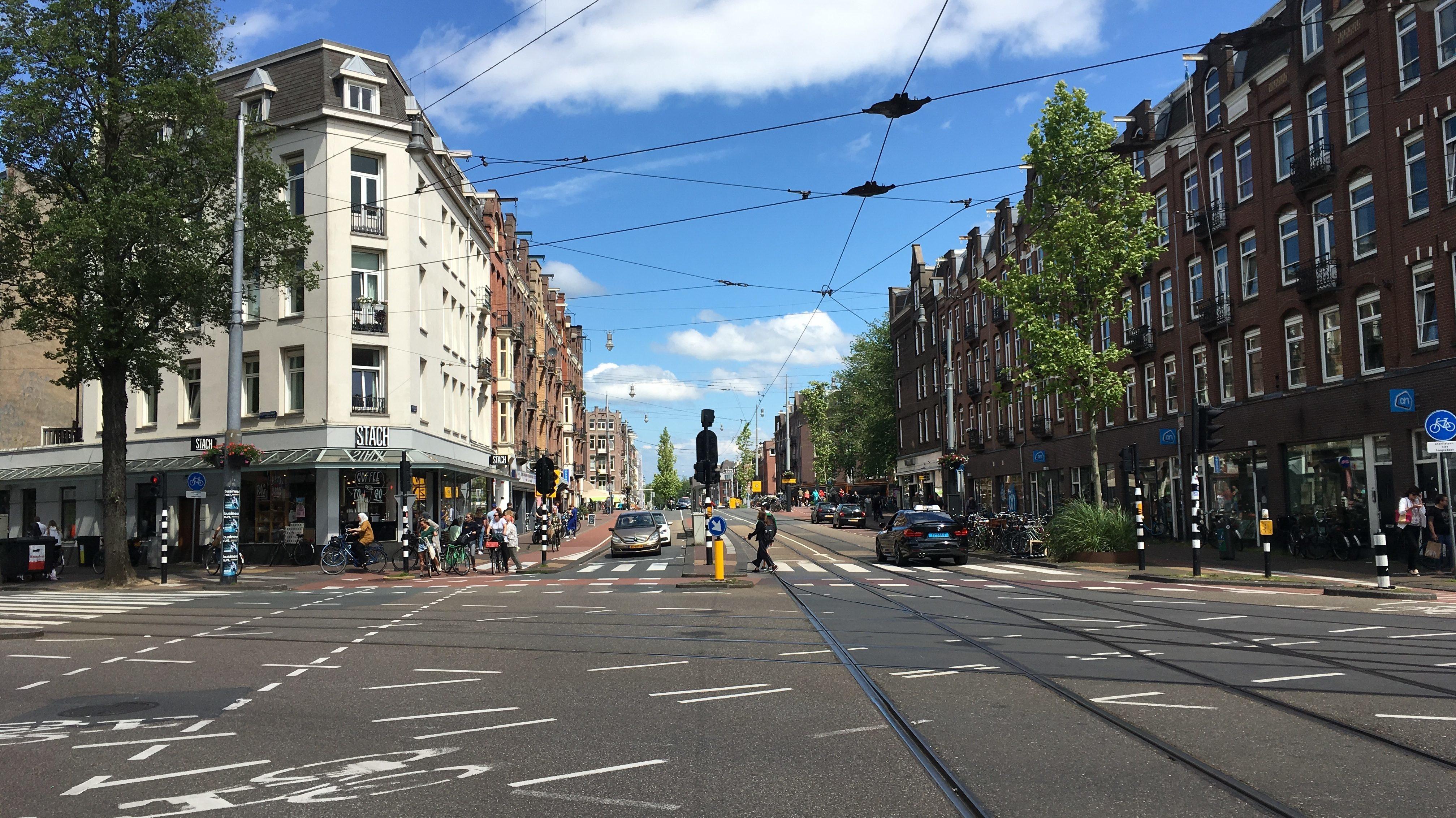 Kruising De Clercqstraat. Foto gemeente Amsterdam