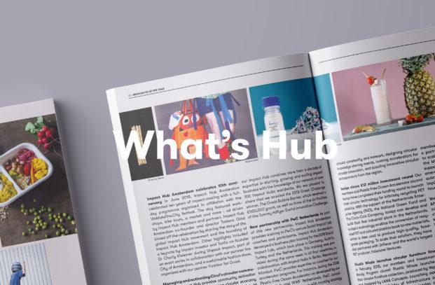 Tijdschrift met tekst What's Hub