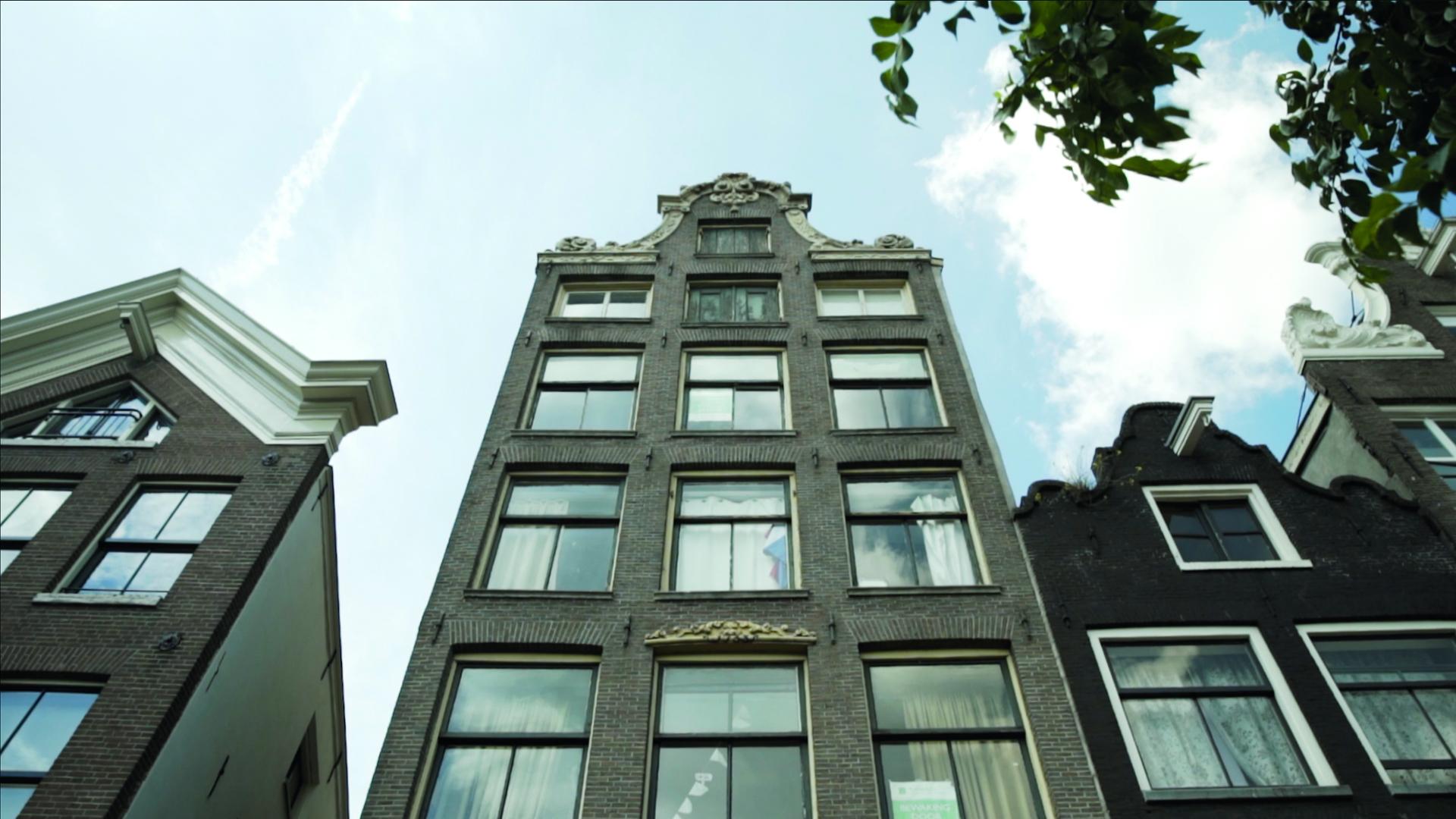 Gevel van monumentaal pand in Amsterdam