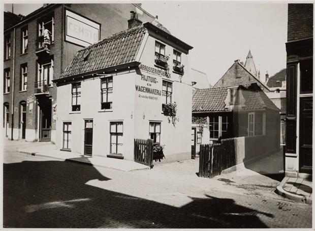 Het oud polderhuisje (nummer 8) in 1930